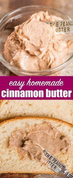 Hausgemachte Zimtbutter Rezept, das leicht gesüßt wird. Perfekt für Pfannkuchen, …   – Recipes