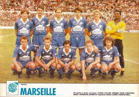 OLYMPIQUE de MARSEILLE 1986-87.