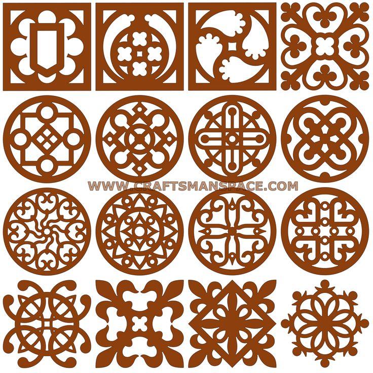 Scrollsaw coaster patterns