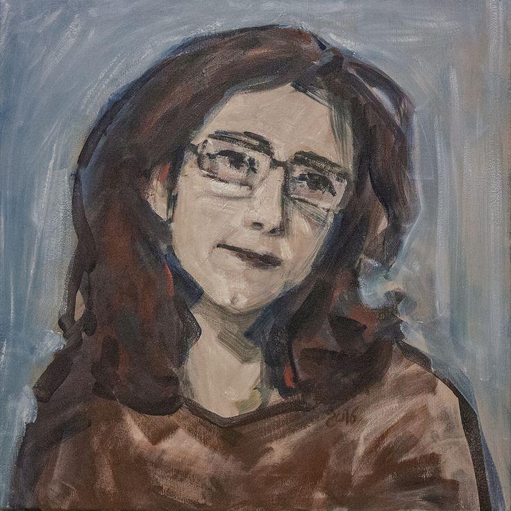Thoughts | 50 x 50 cm | acrylic on canvas | 2016 by Olimpia Hinamatsuri Barbu #painting #original #contemporary #art