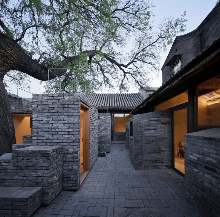 chaer hutong childrens library and art centre beijing 14 best Materials Brick images
