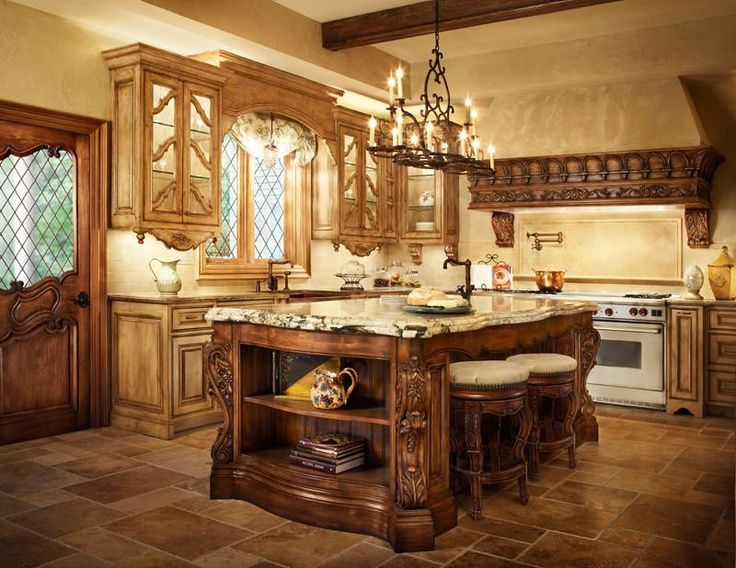 17 best images about old world kitchen on pinterest pot for Old world style kitchen