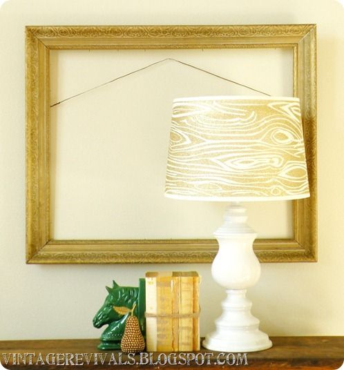Wood Grain Glitter Lampshade With Krylon Glitter Blast {why haven't i think of this before?}