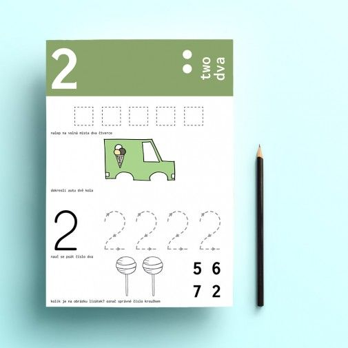 free kids activity book.  We learn the numbers by pipasik