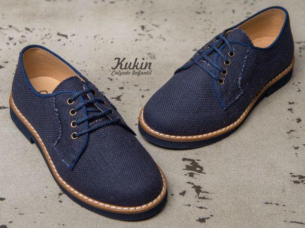 Zapatos azules con cordones Caspar Fashion para mujer 1uH0Xh