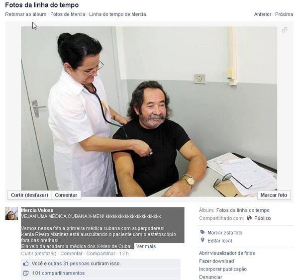 Kenia Rivero 1a médica #Cubana con superpoderes, ausculta con estetoscópio fuera de las orejas