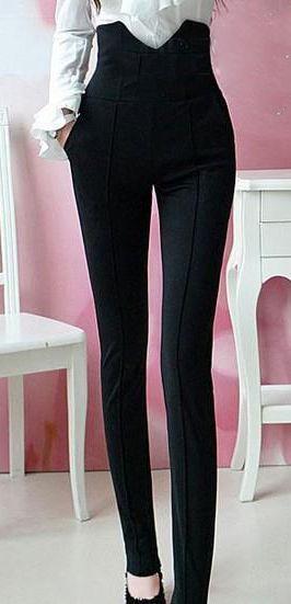 Women Trousers #Pants #Charming #Fashion #Beauty http://www.dressve.com/shop-10794228.html
