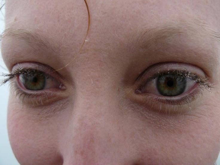 The girl's eyes