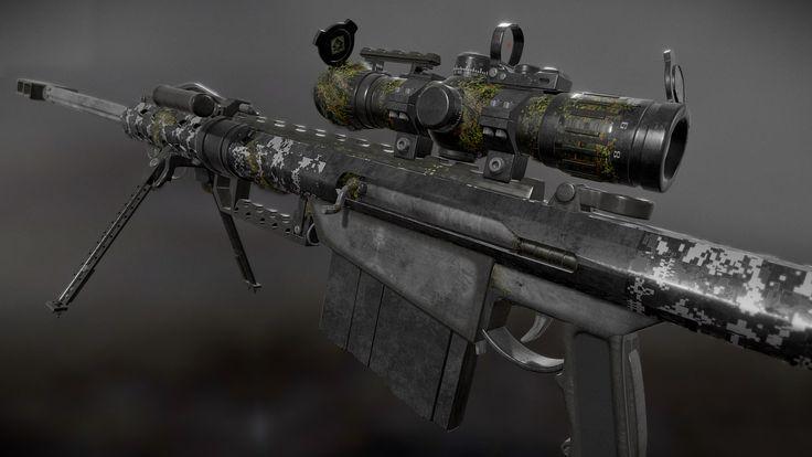Obj Barrett M82 Custom Sniper - 3D Model