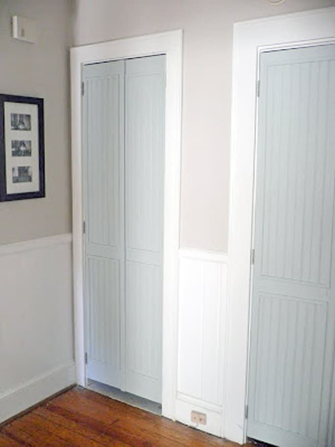 DIY Bi-Fold Closet Door Makeovers - Bright Green Door ...