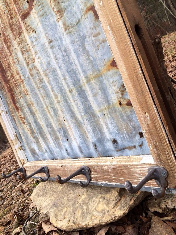 Reclaimed Old Window Rusty BARN TIN MAGNETIC Board by EightySix56