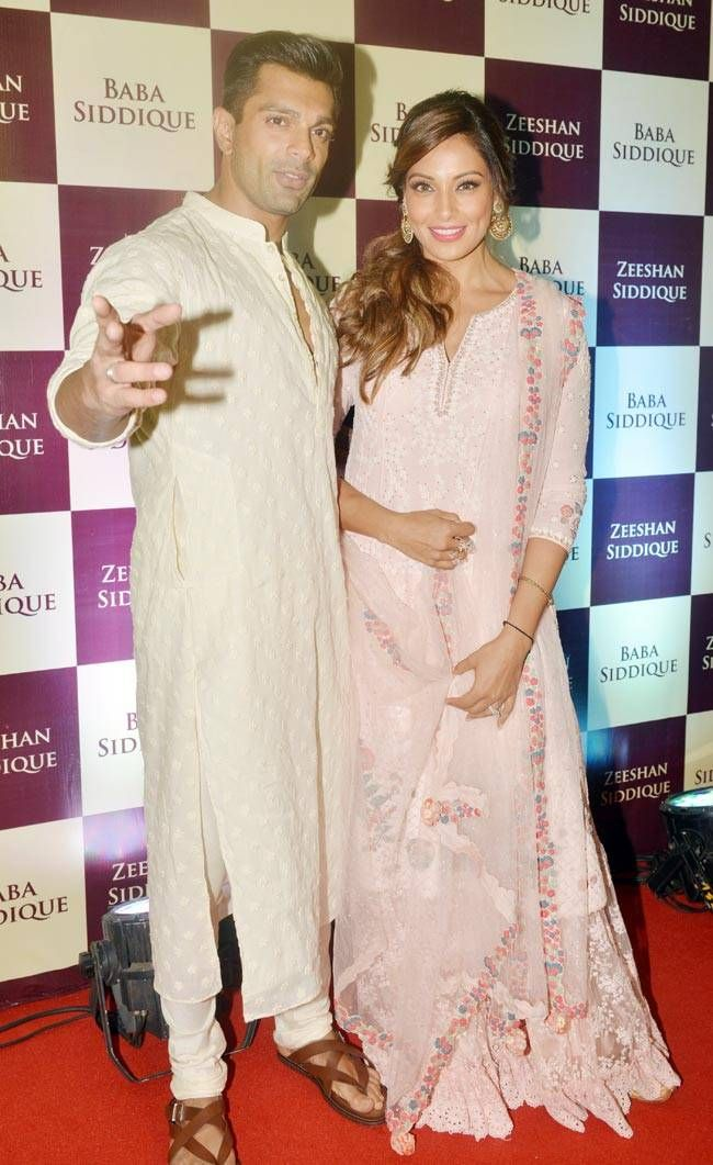 Karan Singh Grover and Bipasha Basu at Baba Siddique's iftar party. #Bollywood #Fashion #Style #Beauty #Hot #Desi #Ethnic