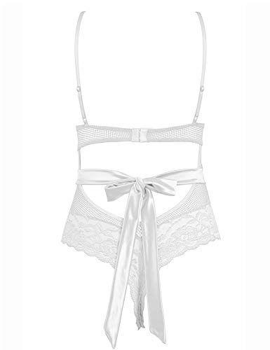 7224256cddb Joyaria Women's Sexy Teddy Lingerie Outfits One Piece Lace Bodysuit Mesh  Nighties,#Teddy, #Lingerie, #Sexy, #Joyaria