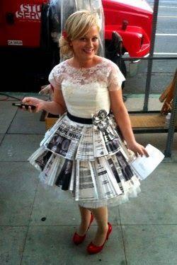 DIY Leslie Knope wedding dress tutorial