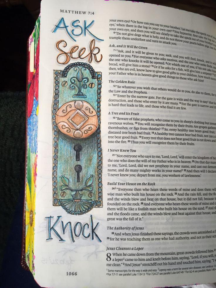 Matthew 7:7-11 Sherrie Bronniman - Art Journaling: In My Bible
