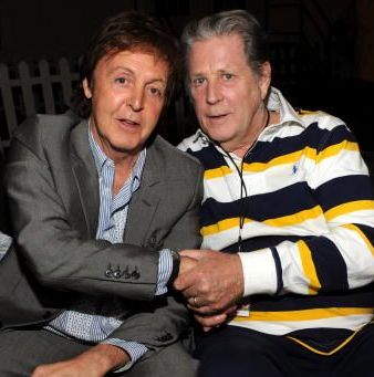 Paul McCartney and Brian Wilson
