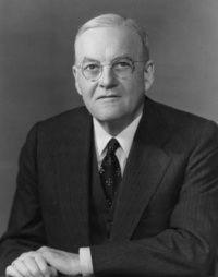 John Foster Dulles.  Secretario de Estado bajo el mandato del presidente Dwight D. Eisenhower entre 1953 y 1959.