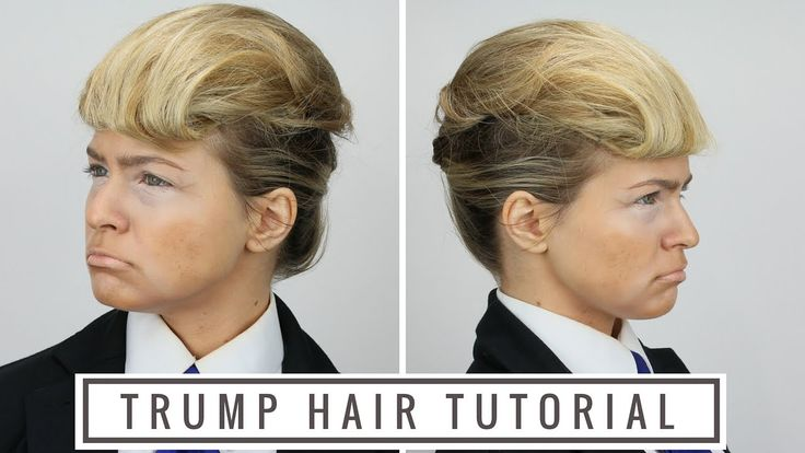 This is a quick tutorial on how to do Donald Trump's hairstyle on long hair. It's perfect for your Halloween costume!
