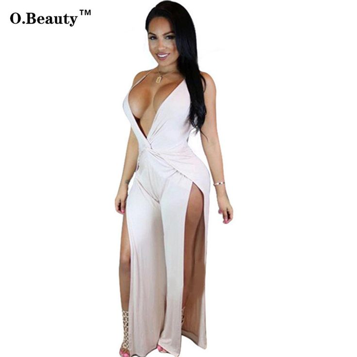 2017 Sexy Rompers Womens Jumpsuit Bodycon Overalls Black White Catsuit Outfits Plus Size Salopette Clubwear Elegant Jumpsuit #Affiliate