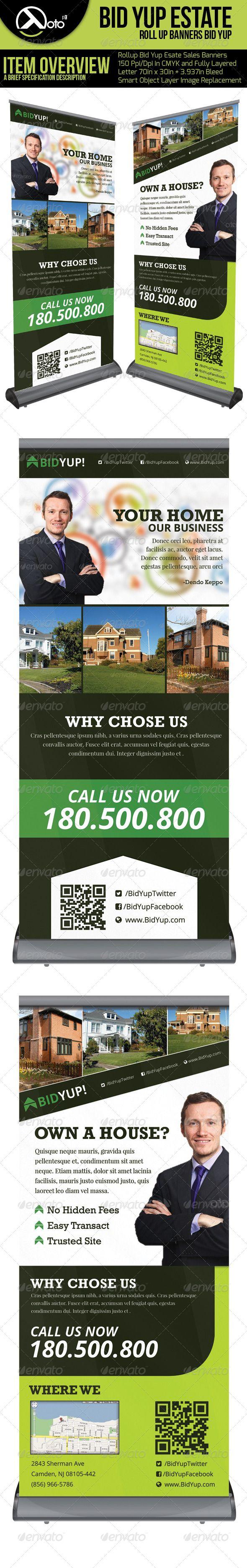 17 best images about design brochure design flyer bid yup estate roll up banners
