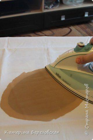 Мастер-класс Поделка изделие Плетение МК по обтягиванию картона тканью Картон Клей Ткань фото 13