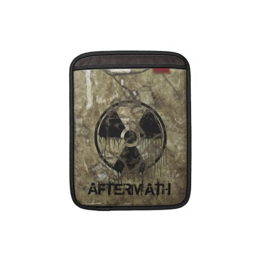 AFTERMATH iPad SLEEVE. A Post-apocalyptic, fully customizable design by BannedWare.