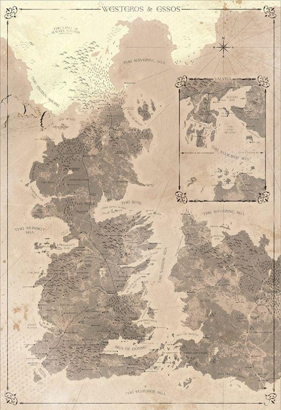 Map of Westeros, Essos & Valyria. #gameofthrones