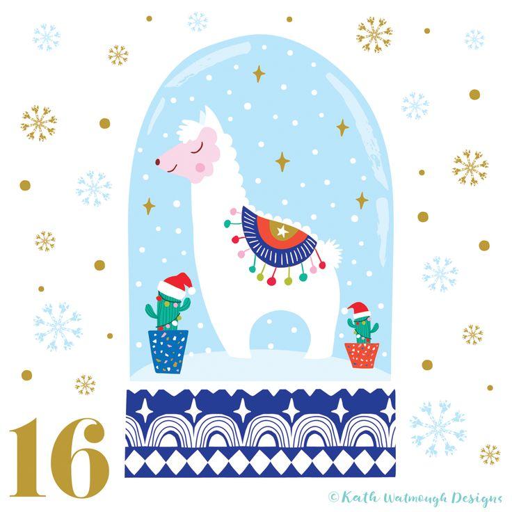 Day 16.  #makeitindesign #christmasllama #llama #cactus #snowglobe #advent #adventcalendar #adventcalendarart #adventcalendar2017 #adventchallenge2017 #illustration #christmascountdown #christmascalendar #christmas #freelance #freelancedesigner #christmas2017 #kathwatmoughdesigns www.instagram.com/kathwatmough