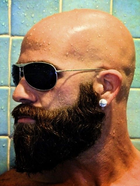 Had a beard my whole life but never this long. Want to try it, but will I have to wear sunglasses in the shower?