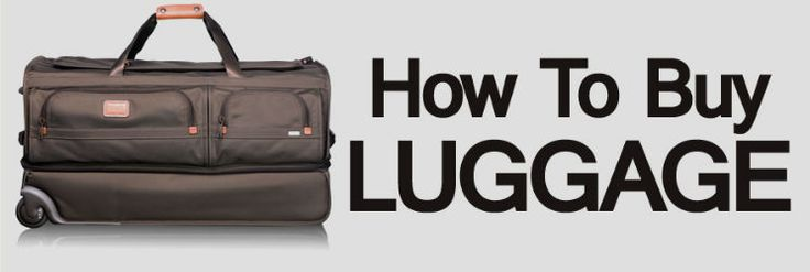 How To Buy Luggage