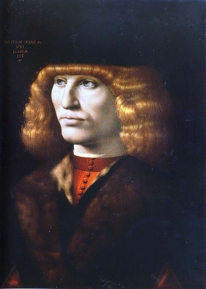 Giovanni Antonio Boltraffio (circa 1467-1516) Portrait of a Young Man, 1490/91
