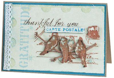 Stamp-it Australia: 4604F Bird Carte Postale - Card by Scheryl