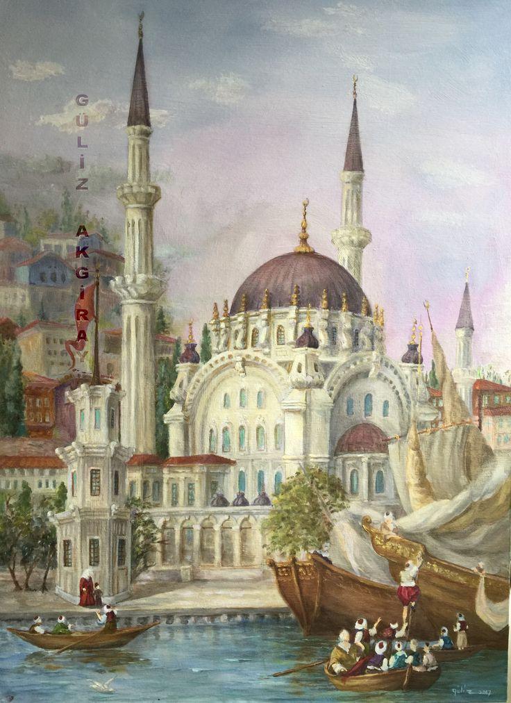 Nusretiye Mosque İstanbul. Painted by Guliz 2017
