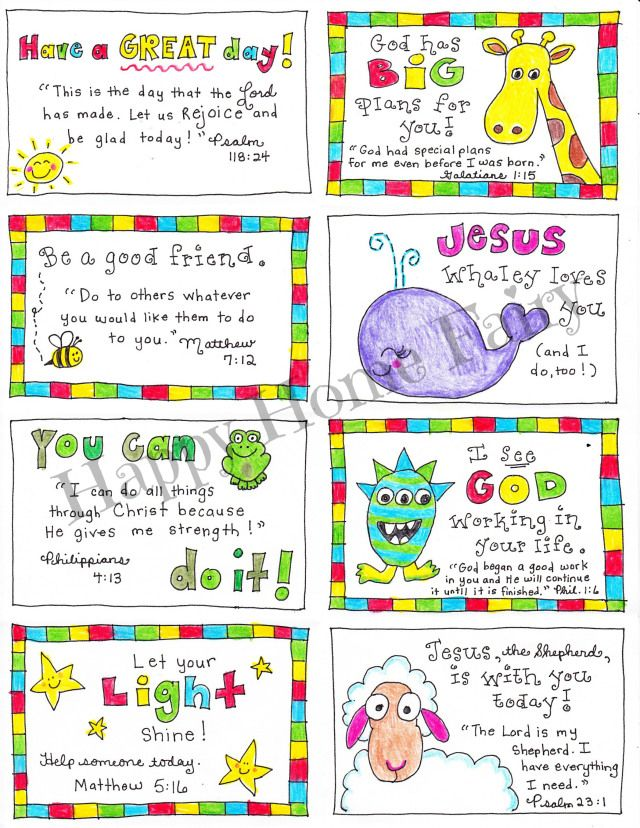 Super cute Lunch Box Notes - FREE printable!