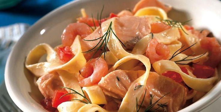 Fem oppskrifter på pasta med laks