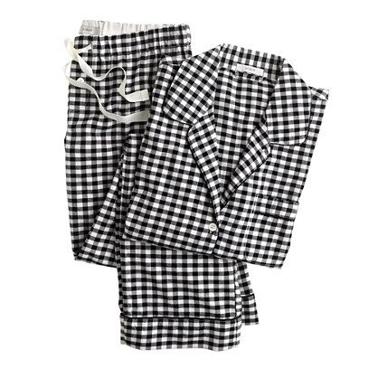 Pajama set in gingham flannel- cute for christmas!