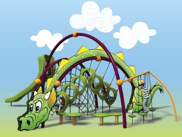 Bring mythical creatures to life on the #playground with #theme designs! #Kids will take off on imaginative quests with the Evos® #Dragon.