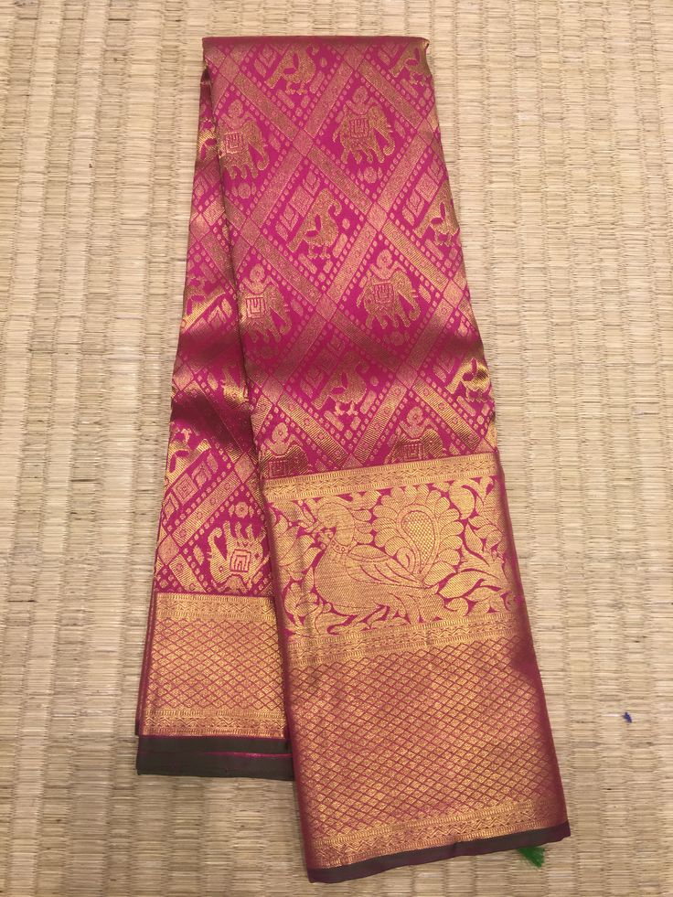 THW FIRST TIME WITH ikat sarees with Kanchipuram traditional border and pure zari from prakashsilks