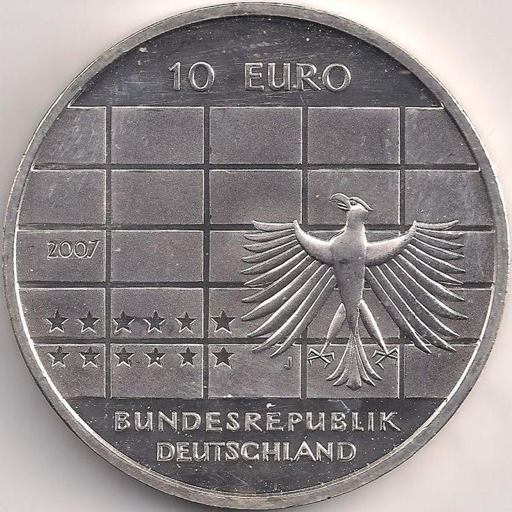 Wertseite: Münze-Europa-Mitteleuropa-Deutschland-Euro-10.00-2007-Bundesbank