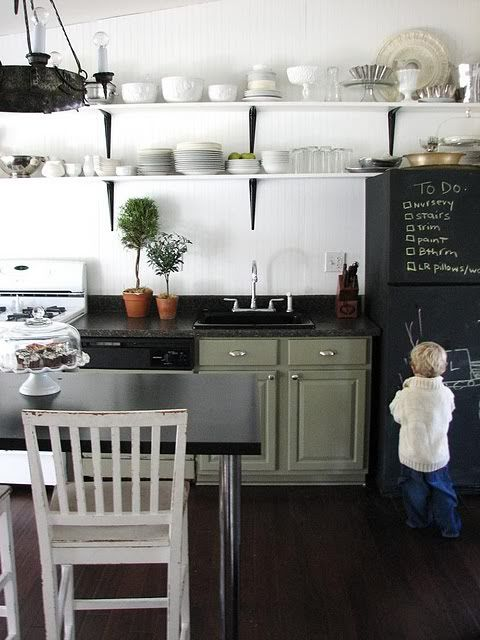 "Dare I paint the fridge with chalkboard paint.... so my grandson & I can draw pictures? I love the ""to do"" list too! lol"