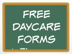 A variety of free Daycare Forms and Sample Documents needed in a child care business. #daycarebusinessplan #startingadaycarebusiness
