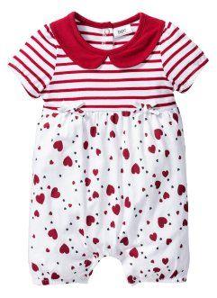Мода для малышей: комбинезон из биохлопка, bpc bonprix collection, белый/темно-красный с рисунком