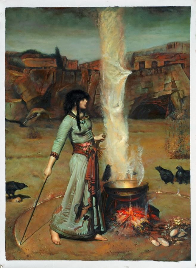 Waterhouse Magic Circle 1886 183 127 Cm Waterhouse