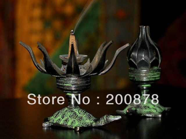 HDC0698  Indian bronze lotus tortoise lamp,candleholder candle stick 100mm Resale and wholesale-in Candle Holders from Home & Garden on Aliexpress.com | Alibaba Group