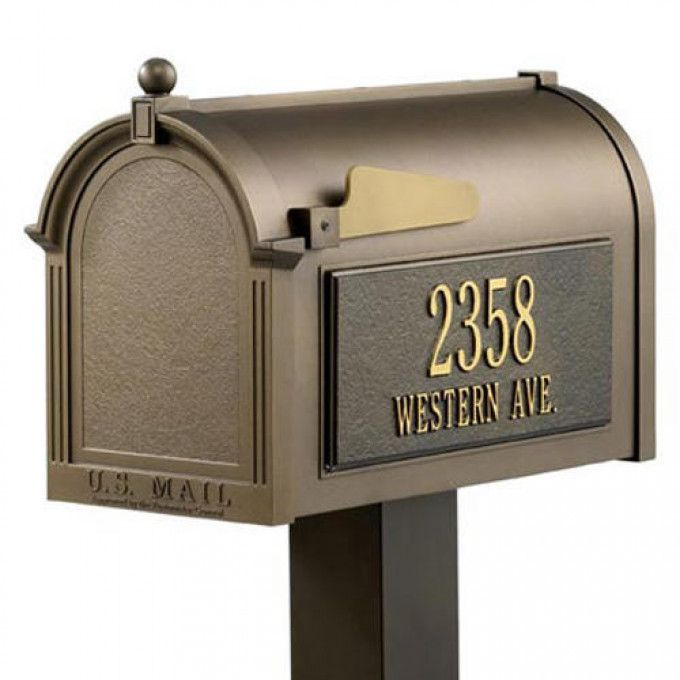 Large Hammered Copper Locking Wall Mount Mailbox Antique Copper Outdoor Mounted Mailbox Traditional Mailboxes Mailbox