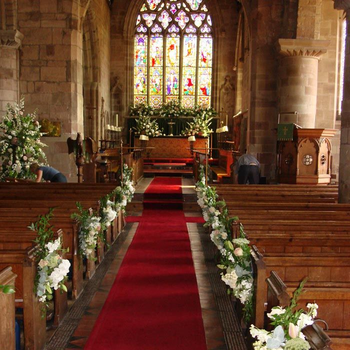 Flowers For Church Wedding Ceremony: Altar Flowers Aisle Pew Ends