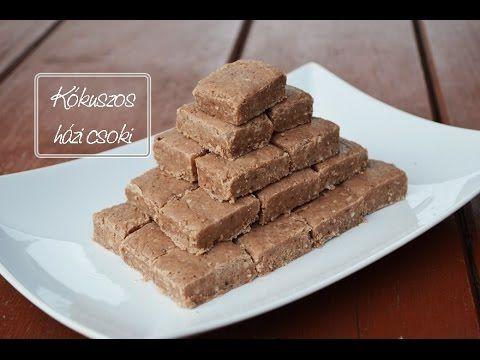 Kókuszos házi csoki elkészítése recepttel - YouTube