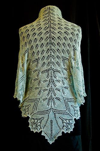 Aeolian shawl - fabulous. There is a free pattern for this!!   More free shawl patterns at http://intheloopknitting.com/free-shawl-wrap-knitting-pattterns/