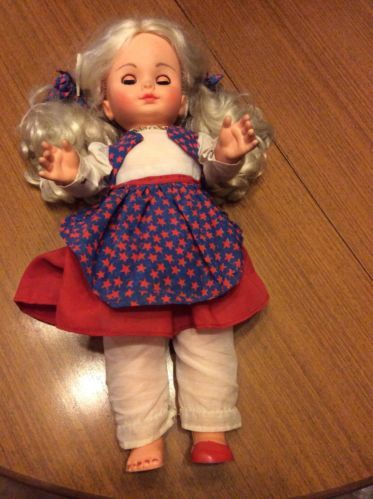 Large Blonde Hair Pretty El Greco Doll with El Greco heart necklace 9.99+5.99 listed for