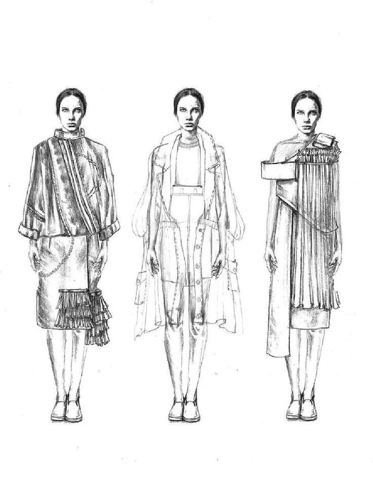 Fashion illustration - fashion design sketches // Emma Berry